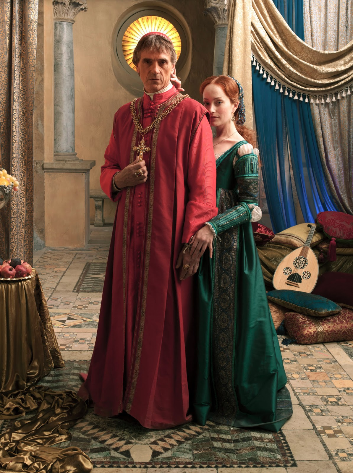 Jeremy Irons as Pope Alexander VI and Lotte Verbeek as Giulia Farnese