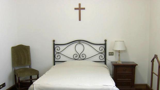 Typical Cardinal's room at Santa Marta's