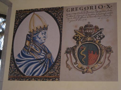 Portrait of Gregory X , Sala del Conclave, Palazzo dei Papi, Viterbo.