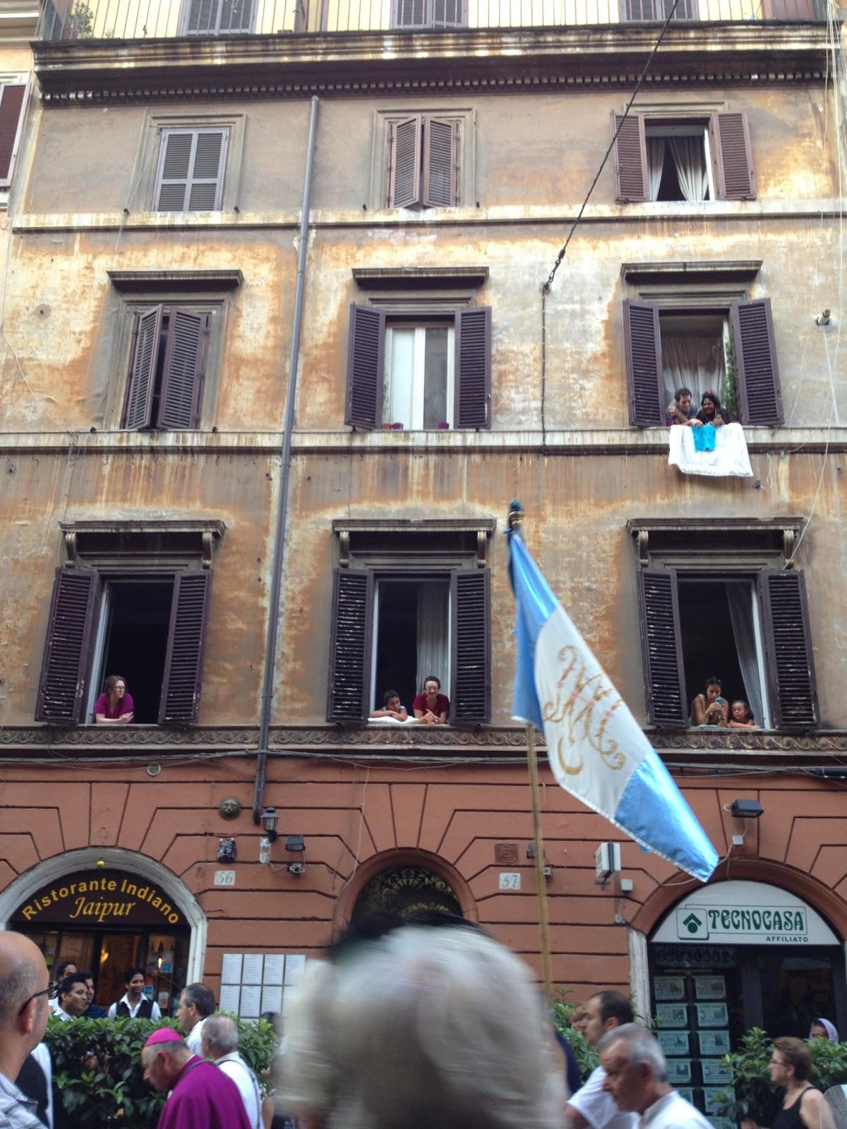 My building during the Festa de' Noantri, 2012