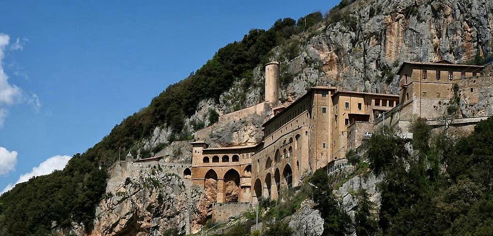 St. Benedict's Monastery, Subiaco. [ source ]