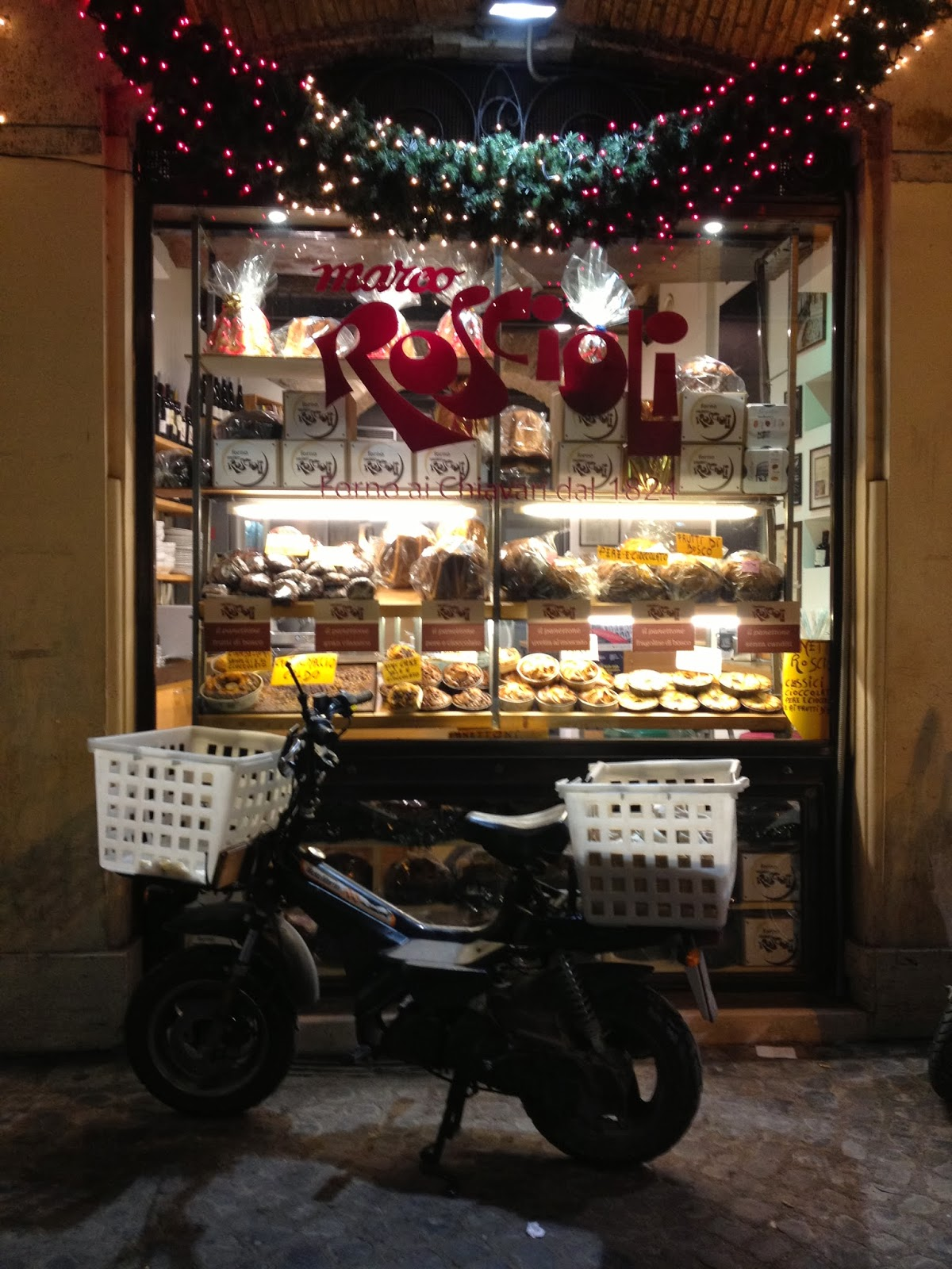 Roscioli bakery, all decked up for Christmas and ready to make some deliveries. © Tiffany Parks