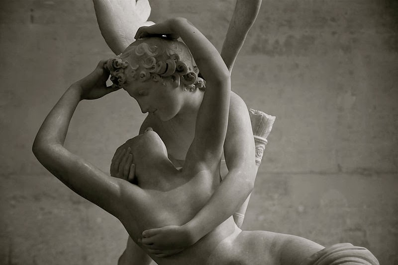 Psyche Revived by the Kiss of Love , Antonio Canova, Musée du Louvre, Paris