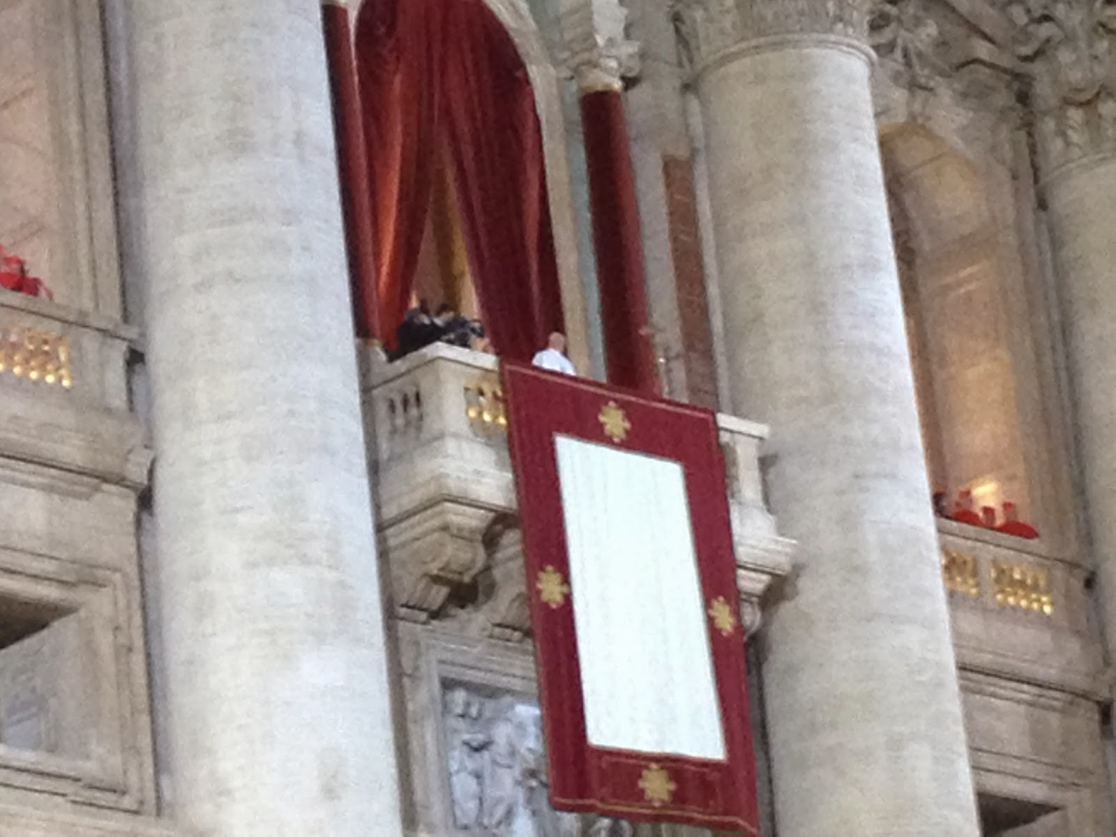 Pope Francis's first appearance, Benediction Loggia, St. Peter's Basilica. © Tiffany Parks