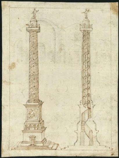 Archetectural Rendering of the Column of Marcus Aurelius [ Source ]