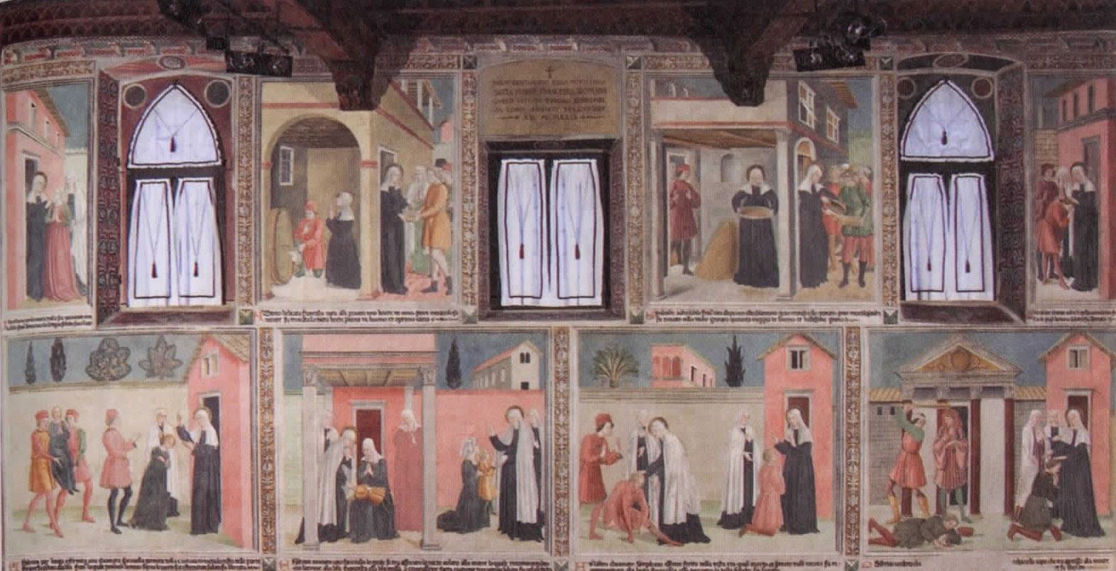 Frescoes by Antoniazzo Romano, Tor de' Specchi Monastery [ Source ]