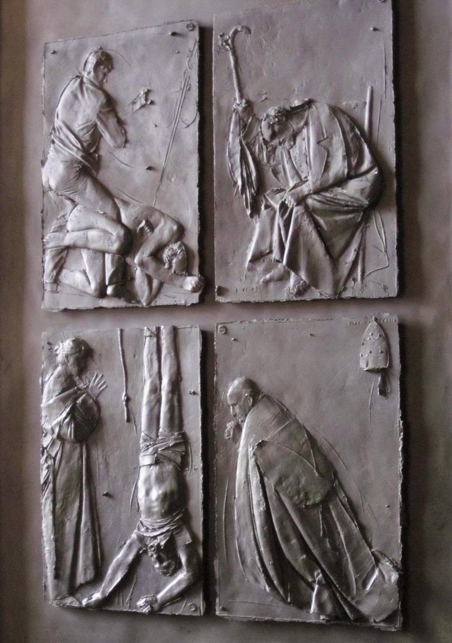 "Detail of ""Doors of Death,"" Giacomo Manzù [ source ]"