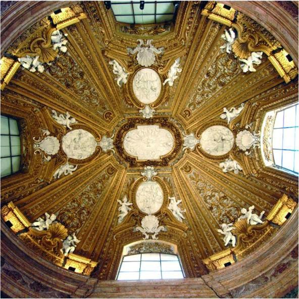 Dome of the chapel of Palazzo del Monte di Pietà