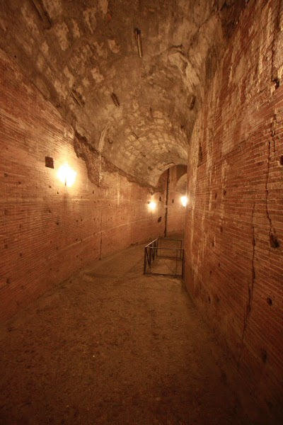 Passageway leading to the dungeons of Castel Sant'Angelo [ source ]