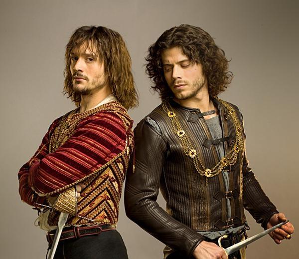 David Oakes as Juan Borgia and Francois Arnaud as Cesare Borgia in Showtime's series,   The Borgias