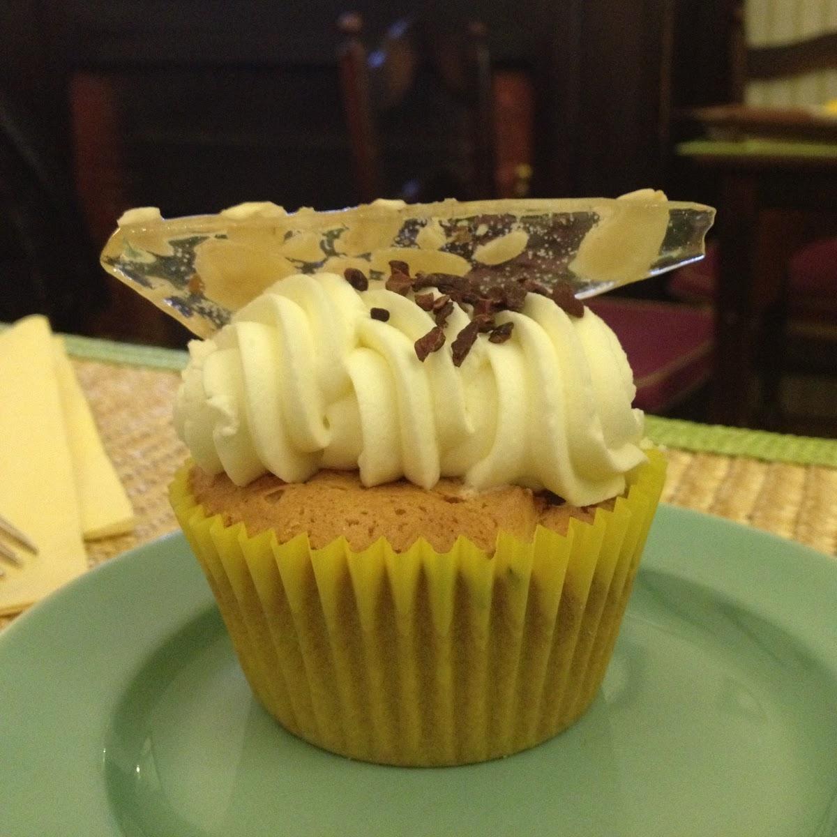Almond cupcake at Babington's