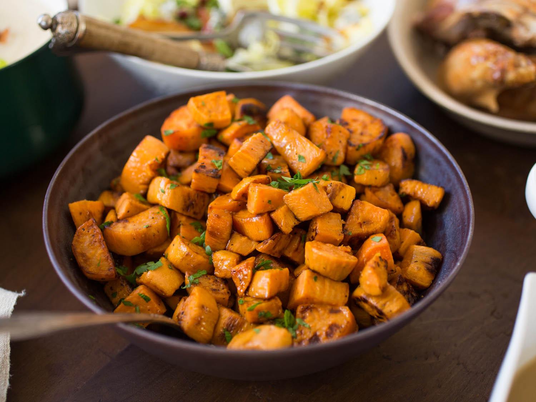 Roasted sweet potatoes  [Source]