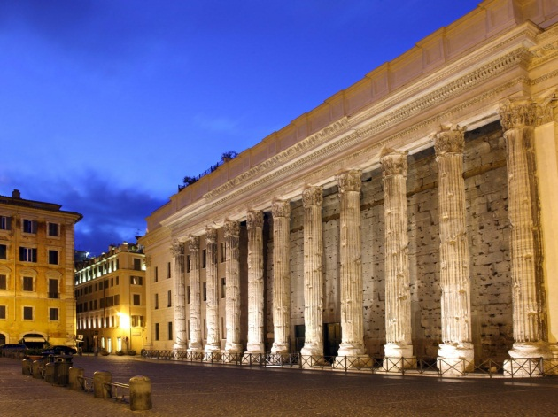 Hadrian's Temple in Piazza di Pietra