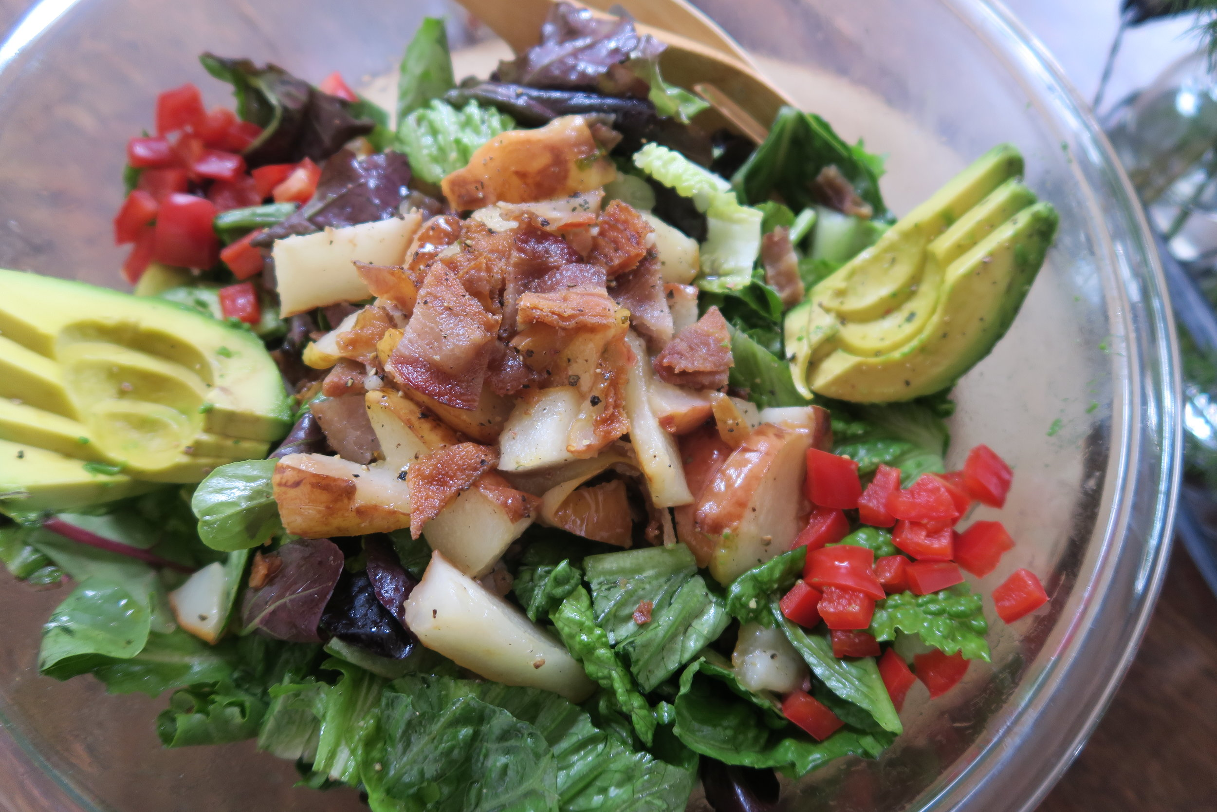whole30, whole30 recipes, salad, bacon, pears, lake superior kitchen, duluth food, healthy salad recipe, side salad, grain free, gluten free, dairy free,
