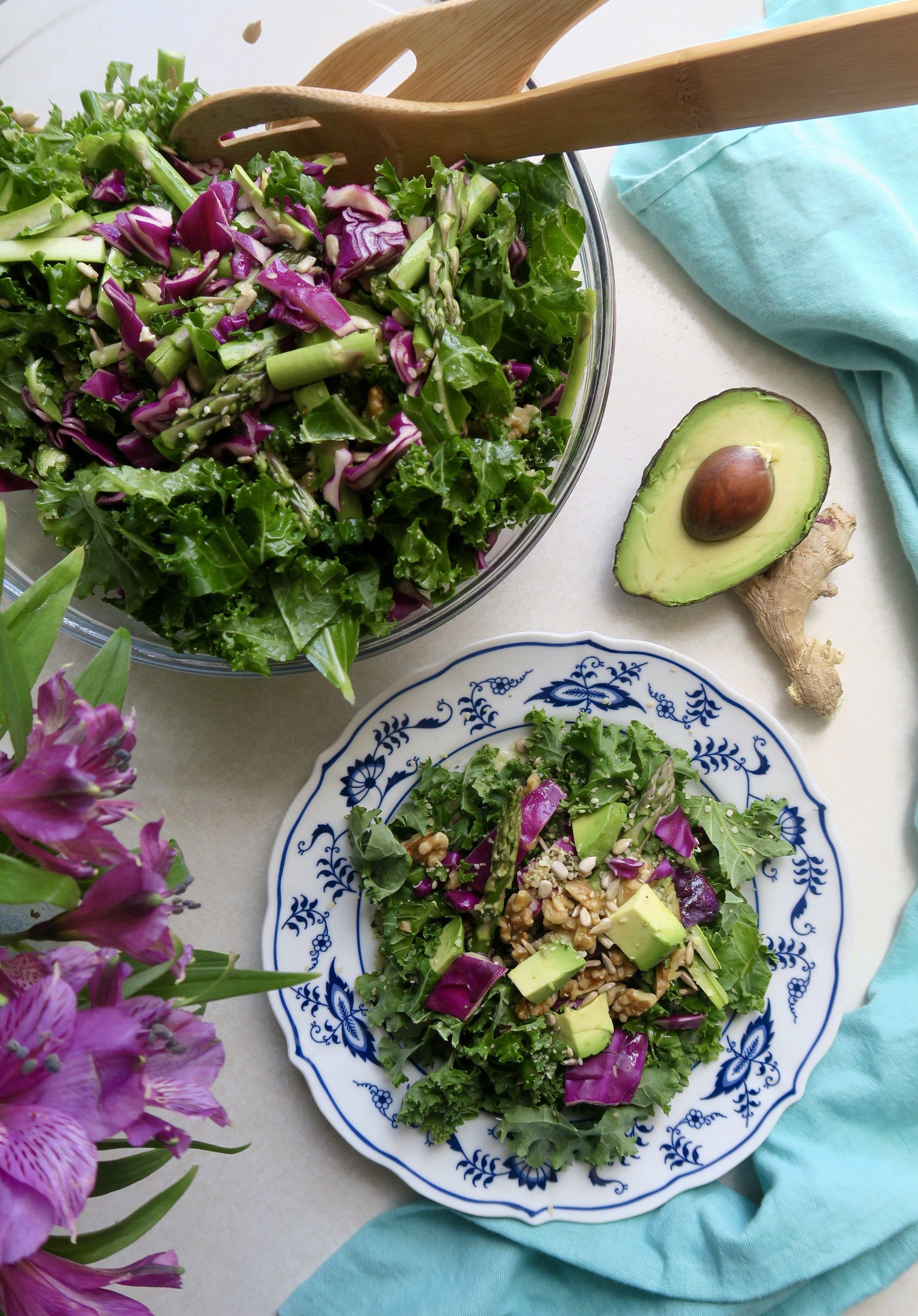 Lake Superior kitchen, duluth food, detox salad, kale, cabbage
