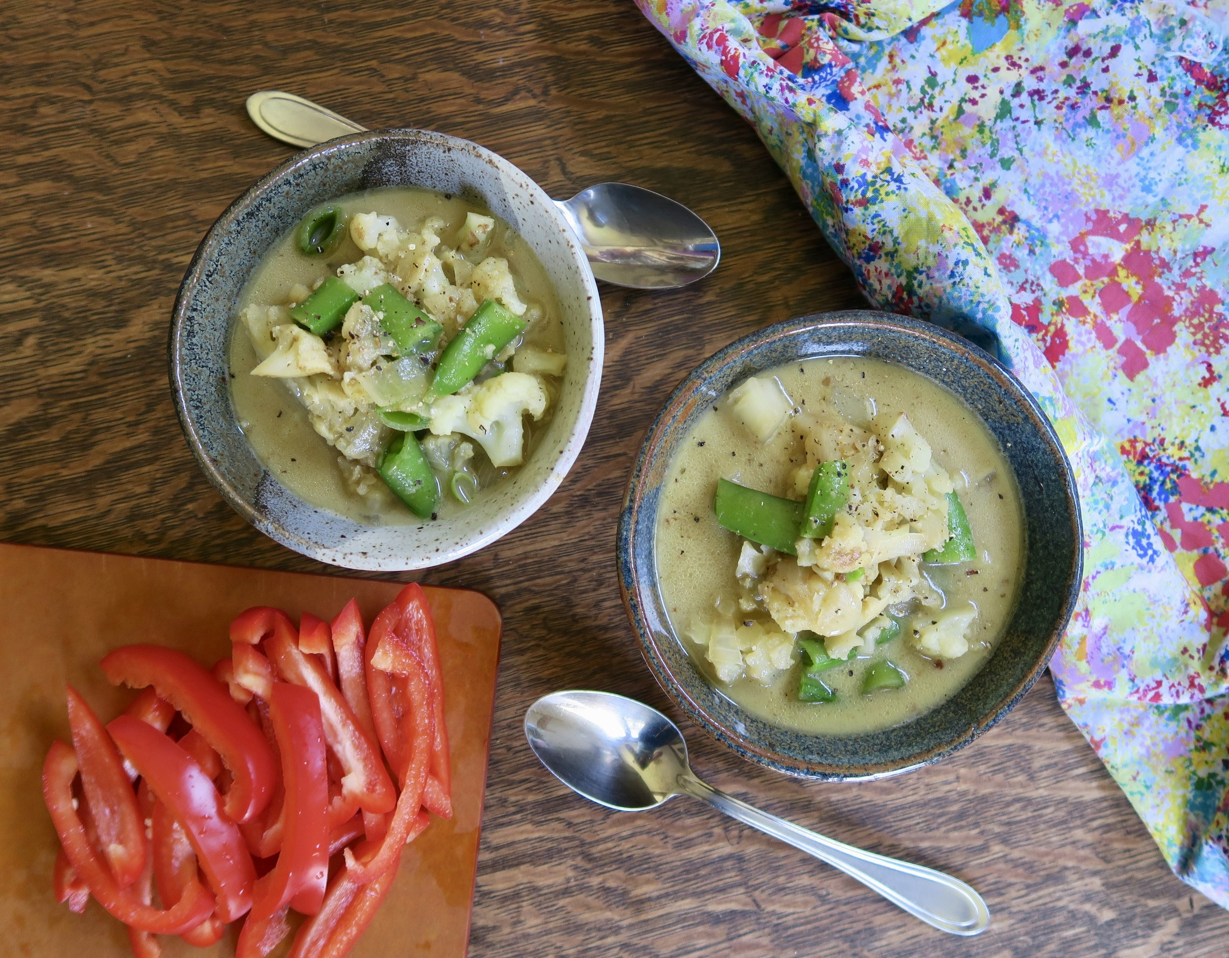 lake superior kitchen, duluth food, cauliflower soup, curry recipe