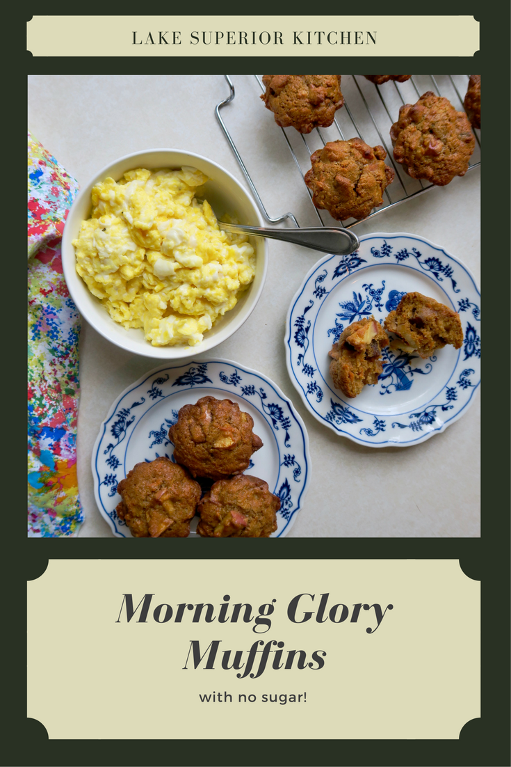 Morning Glory Muffins, Healthy Muffins, Lake Superior Kitchen