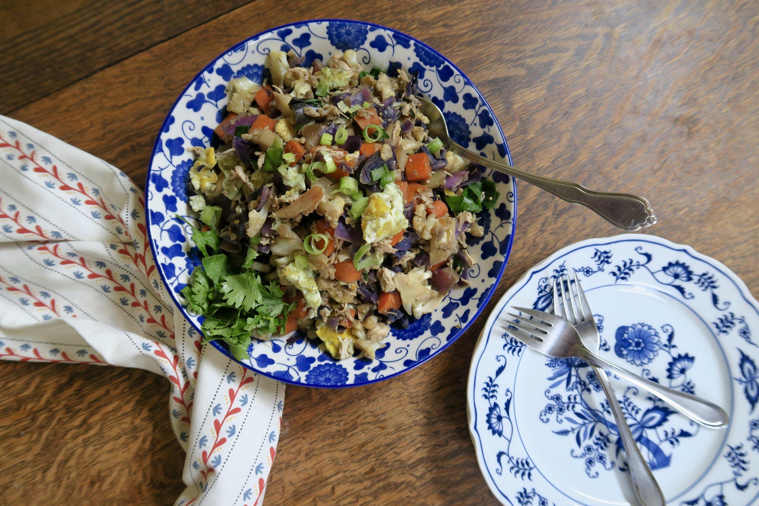 Cauliflower Rice, Lake Superior Kitchen, Whole30, Paleo