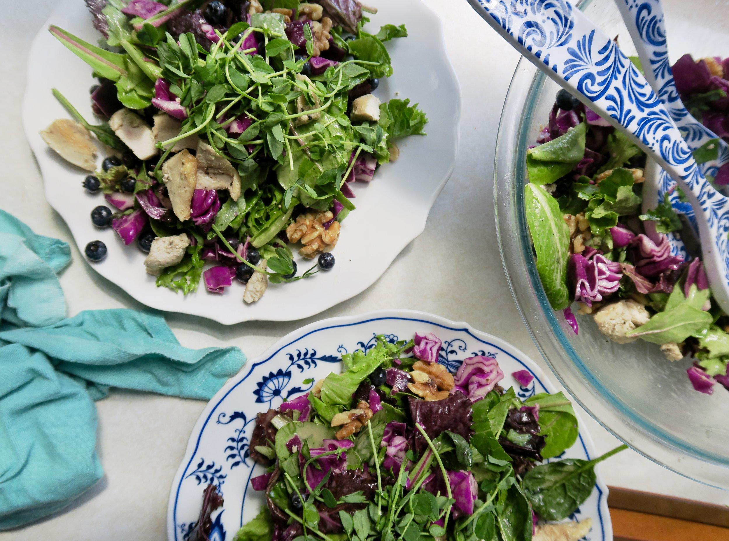 Blueberry Basil Salad, Lake Superior Kitchen, Salad Recipe