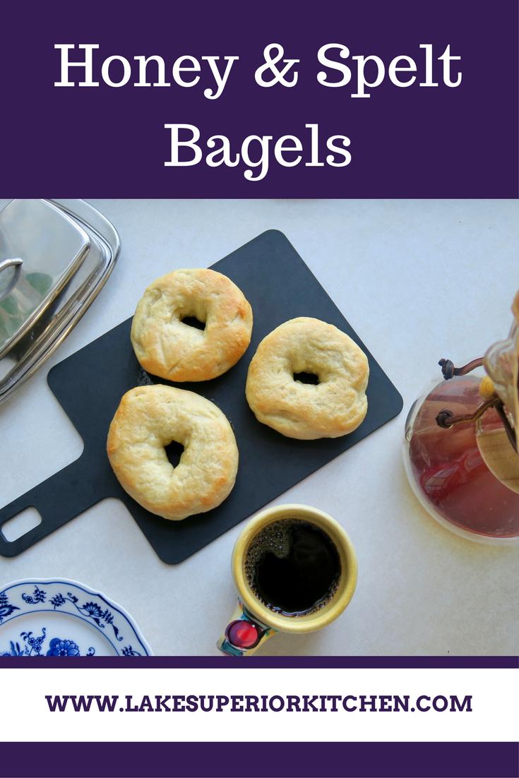 Spelt & Honey Bagels, Lake Superior Kitchen, Duluth food, bagel recipe