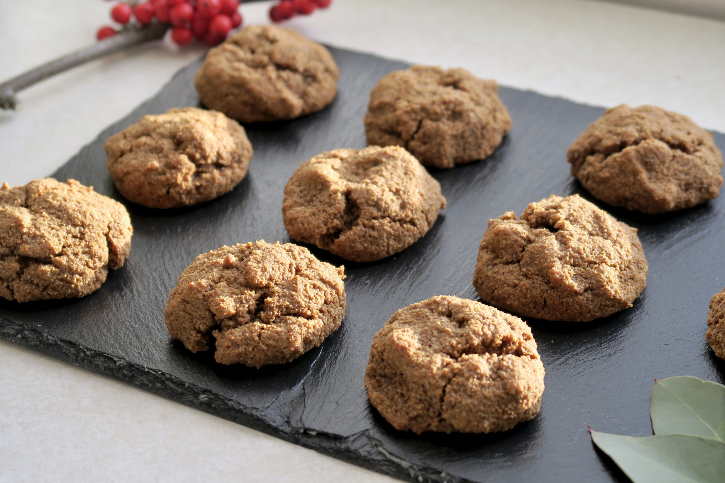 Paleo Ginger Cookies, Lake Superior Kitchen, Grain Free, Christmas cookies