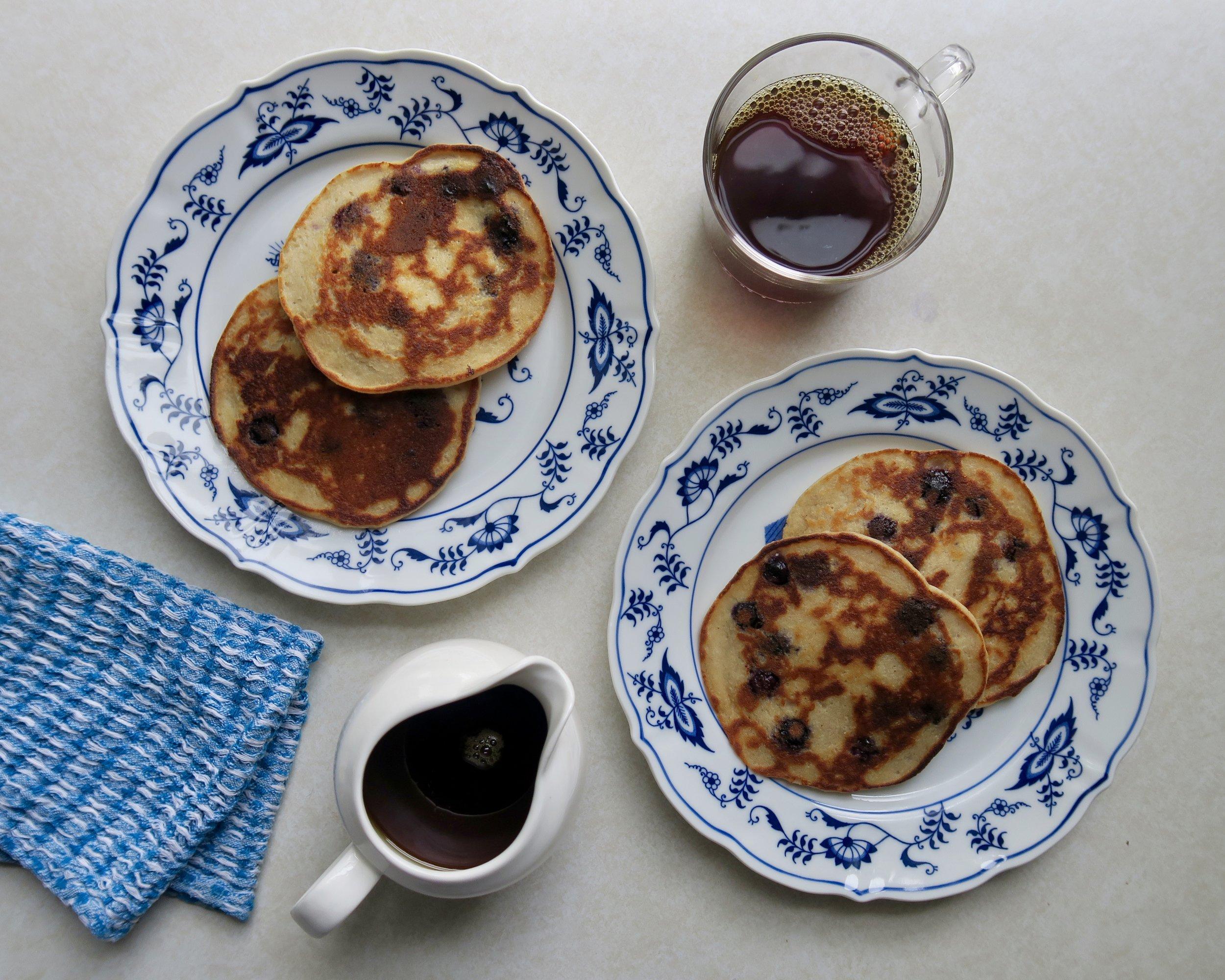 Blueberry Buttermilk Pancakes, Lake Superior Kitchen, gut health, healthy pancakes