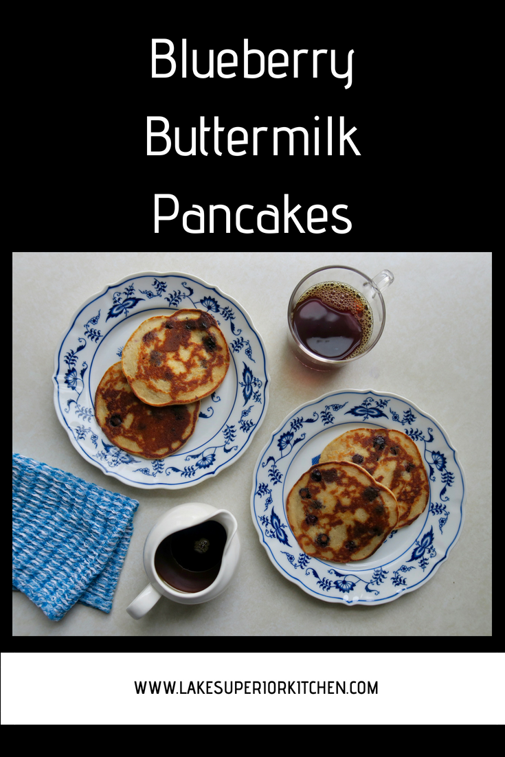 Blueberry Buttermilk Pancakes, Lake Superior Kitchen, healthy pancakes