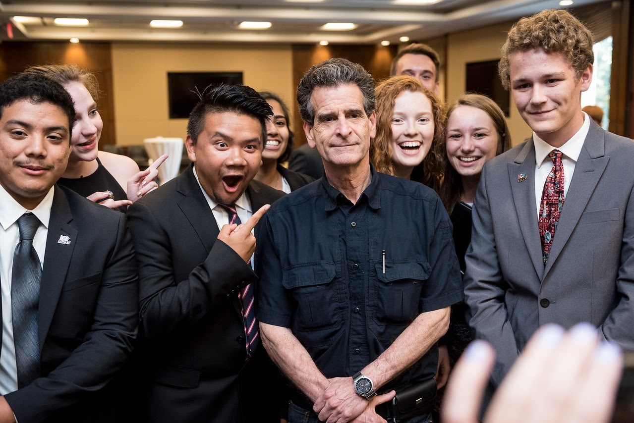 Members of the Metrobots meeting Dean Kamen in DC