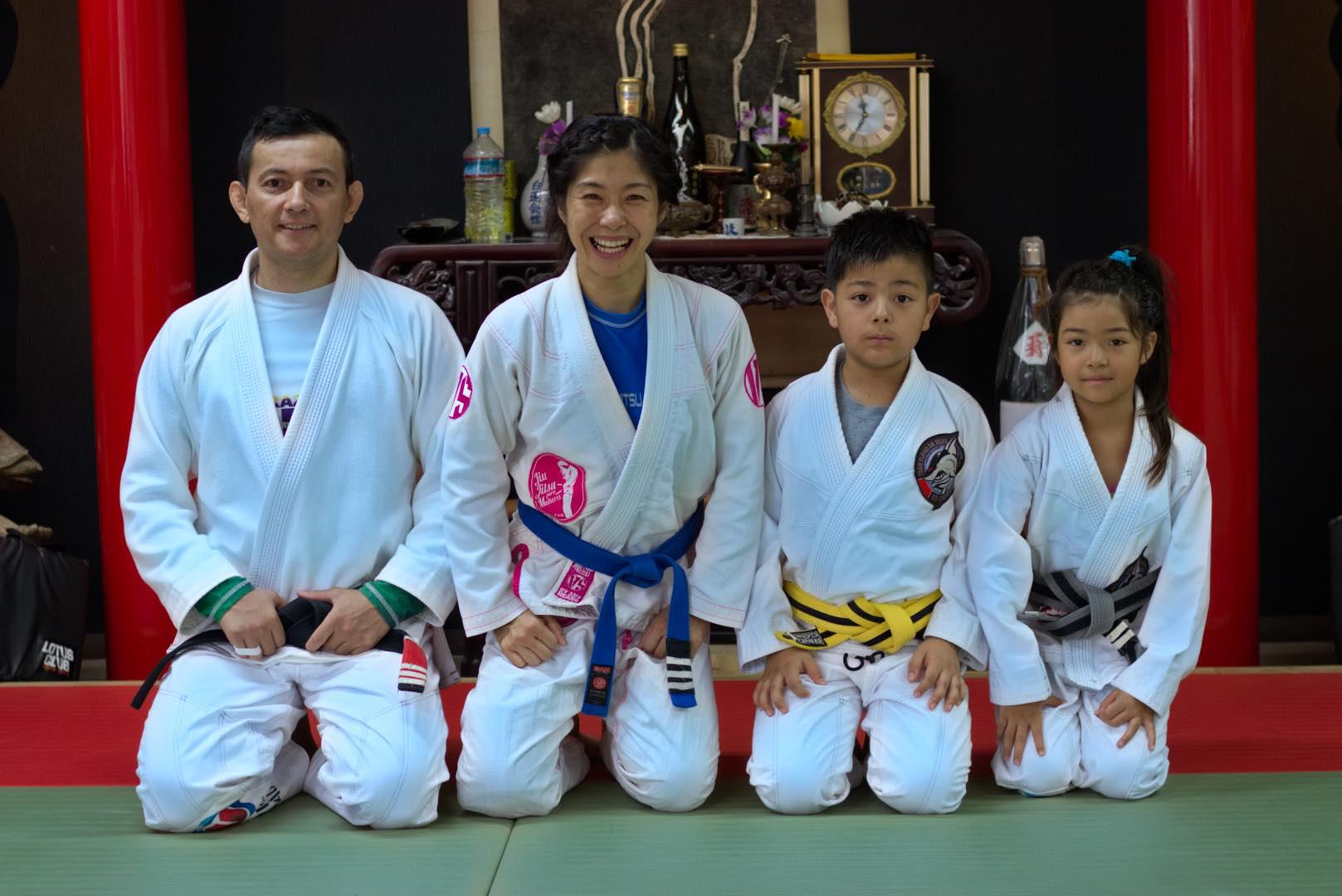 Professor Flavio Da Silva and his family.