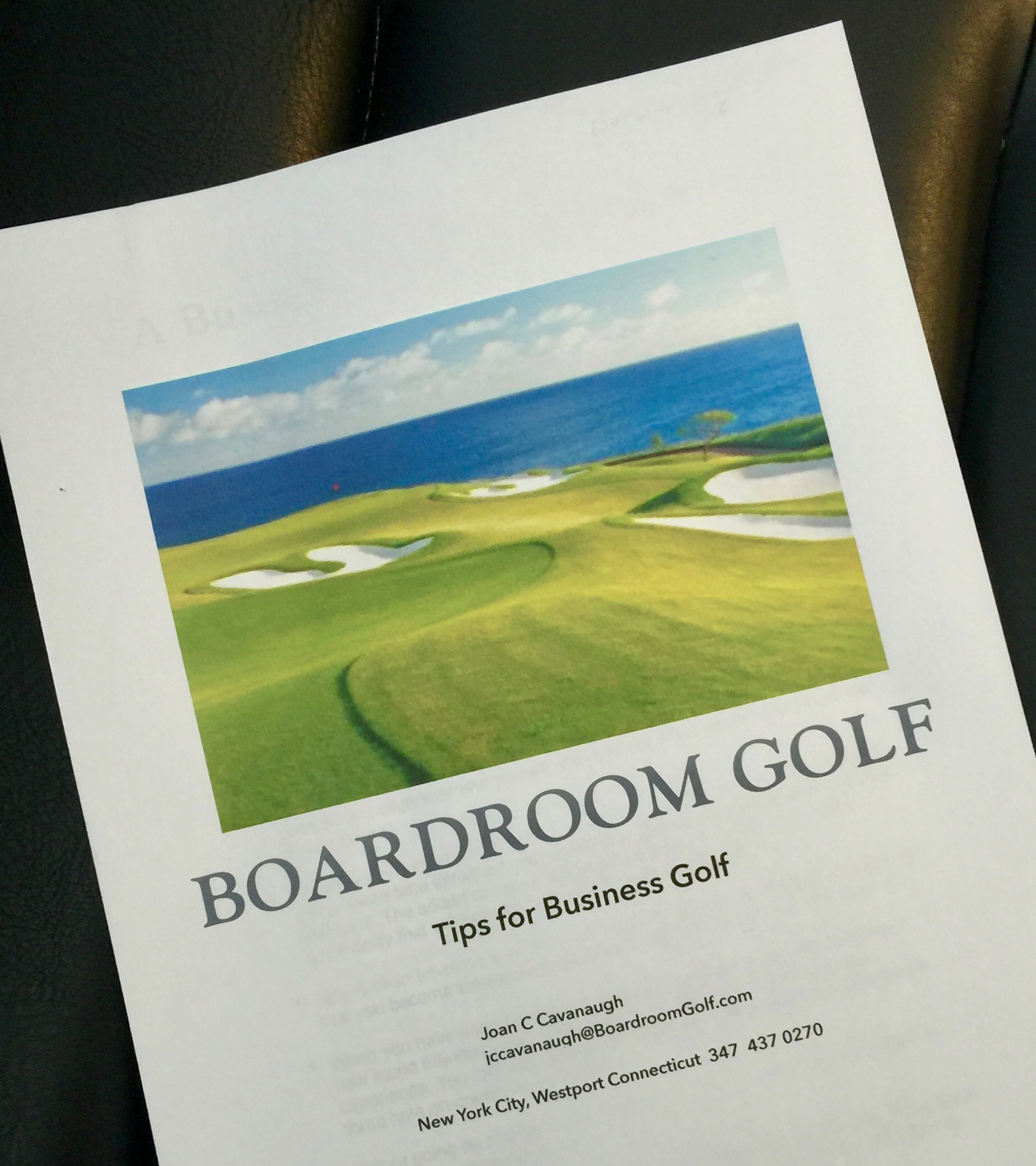 No Note-taking - Get a 20 page manual to golf you can still refer to after the lesson has ended. Compiled over the course of 20 years playing the game, it'll contain all you need to know as you continue your golf adventure.