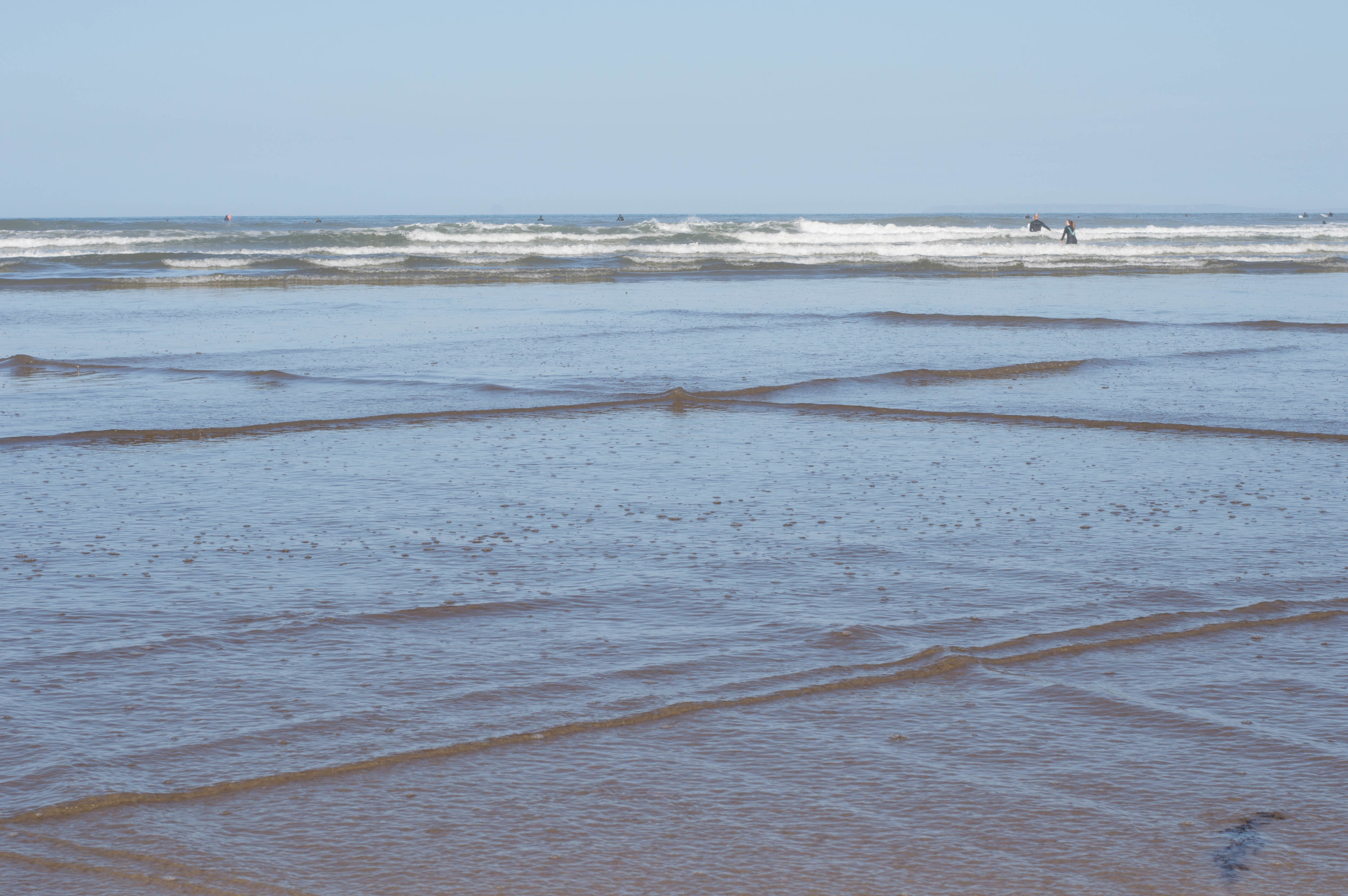 Calming sea ripples