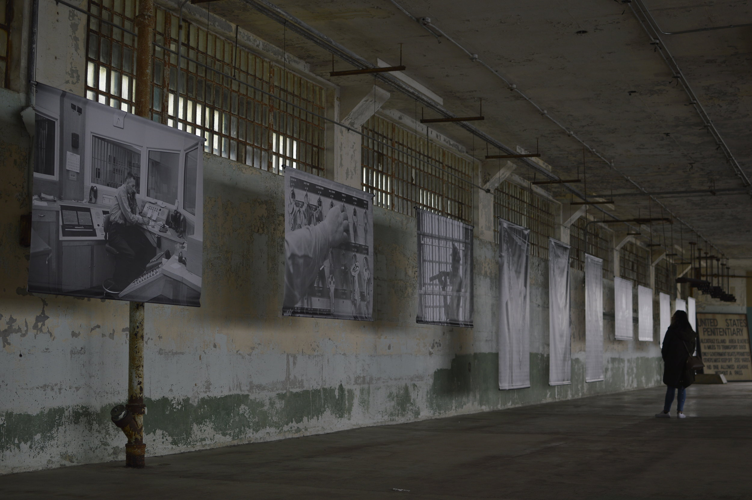 Alcatraz Island - photography exhibition of photos by Leigh Wiener. Above photo taken by me - March 2017