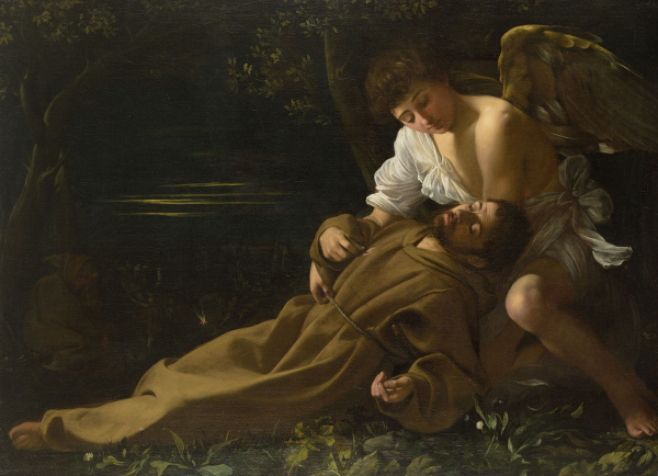 St. Francis of Assisi in Ecstasy - Caravaggio  Available at:http://www.themasterpiececards.com/famous-paintings-reviewed/bid/96797/Caravaggio-Paintings-St-Francis-of-Assisi-in-Ecstasy