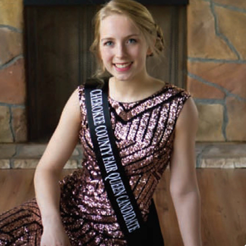2018 Cherokee County FairQueen Nicole McLaughlin - Fair Queen CrowningSunday, July 21 @ 3 PMin the Activity Building