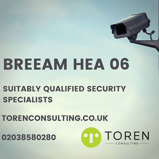 Toren Consulting are specialists in helping our clients to achieve the BREEAM security credit. #breeam #security