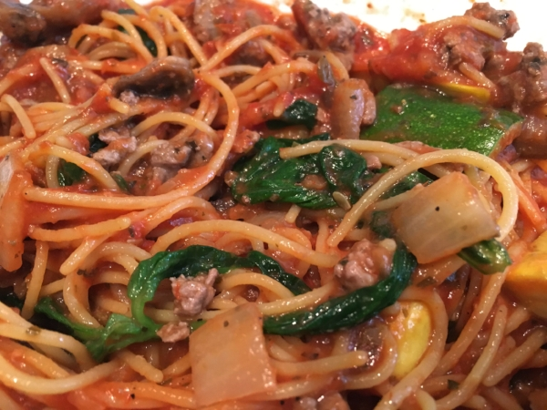 Spaghetti made with Pow Pasta