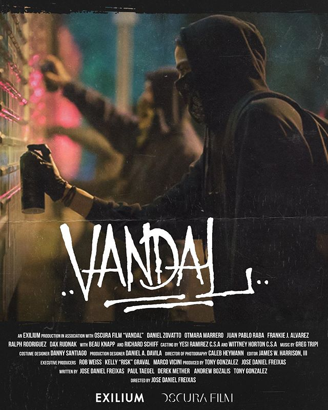 VANDAL Official theatrical poster ⬆️ Tickets to the NYC premiere, posters, merch, and trailer all available on our website. (Link in bio) Please support the movement 🙏🏼❤️🎥🎨______________________________ @urbanworldfilmfest  #vandalmovie #exilium17 #urbanworldfilmfestival #montanacans #dadewear #theseventhletter #riskrock #danielzovatto #otmaramarrero #beauknapp #drdax #ralphrodriguez #frankiejalvarez #robweiss #oscurafilm #josedanielfreixas #tetazo17 #miamifilm #miamigraffiti #latinofilm #latinofilmmaker #wynwood #miami #streetart #vandalism
