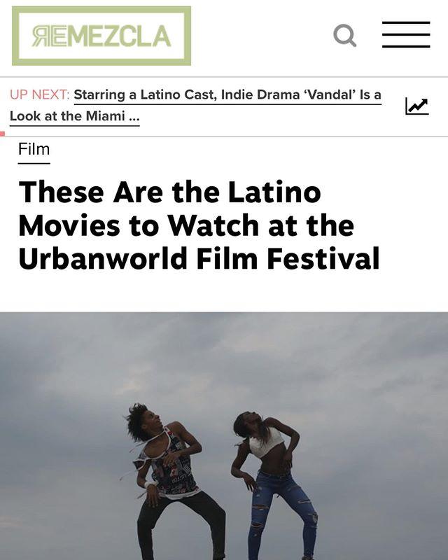 🗞🎥❤️🙏🏼 @remezcla @urbanworldfilmfest #vandalmovie #exilium17 #urbanworldfilmfestival #danielzovatto #remezcla