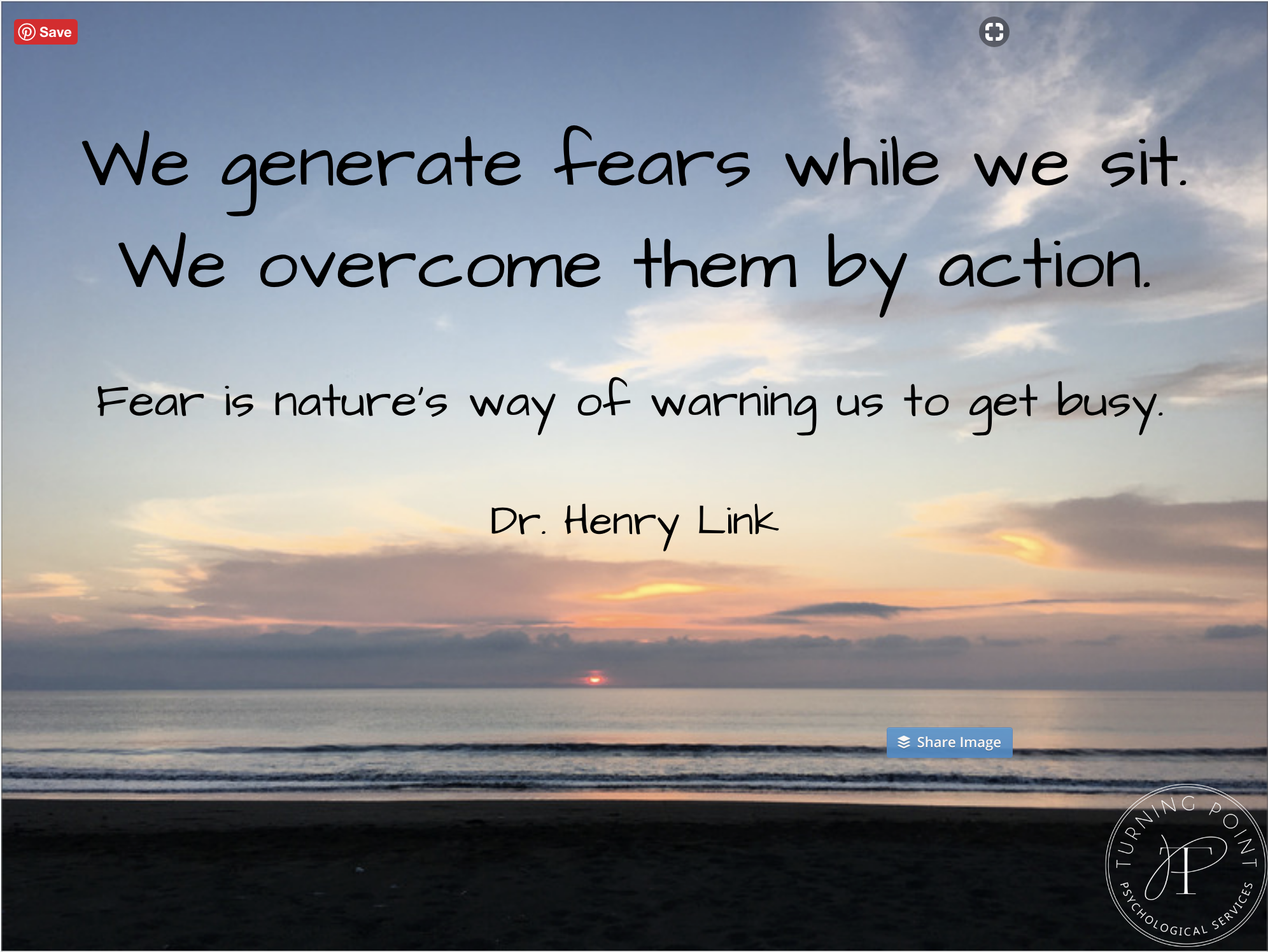 We generate fears while we sit. We overcome them by action.png