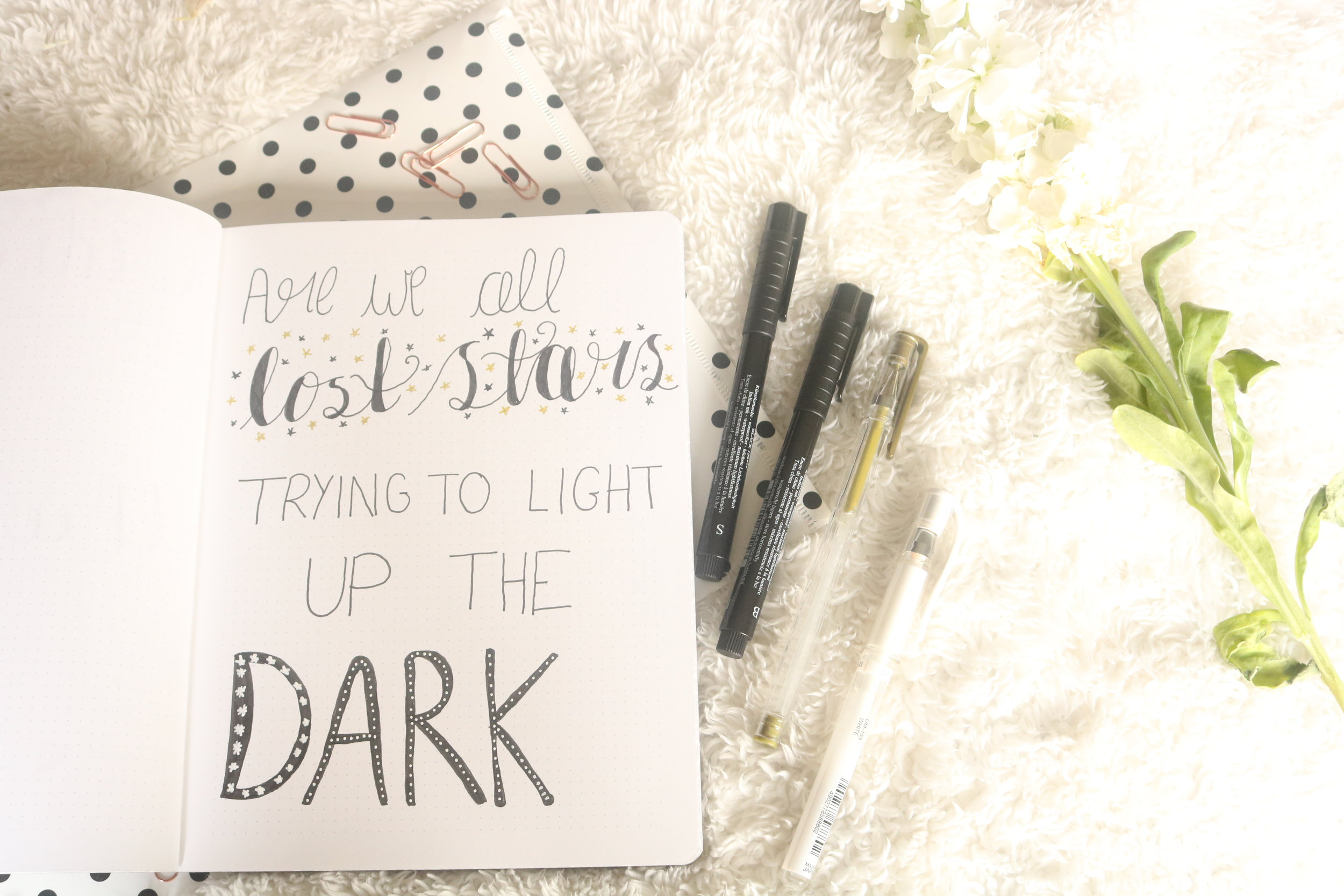 Are We All Lost Stars Trying To Light Up The Dark? patternedpetals