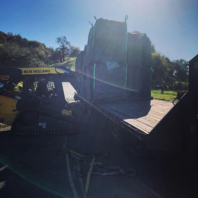 Rogue Biochar being unloaded at another California winery!  #biochar #vineyard #wine #organic #healthysoil #sonoma #caligrown #californiawine