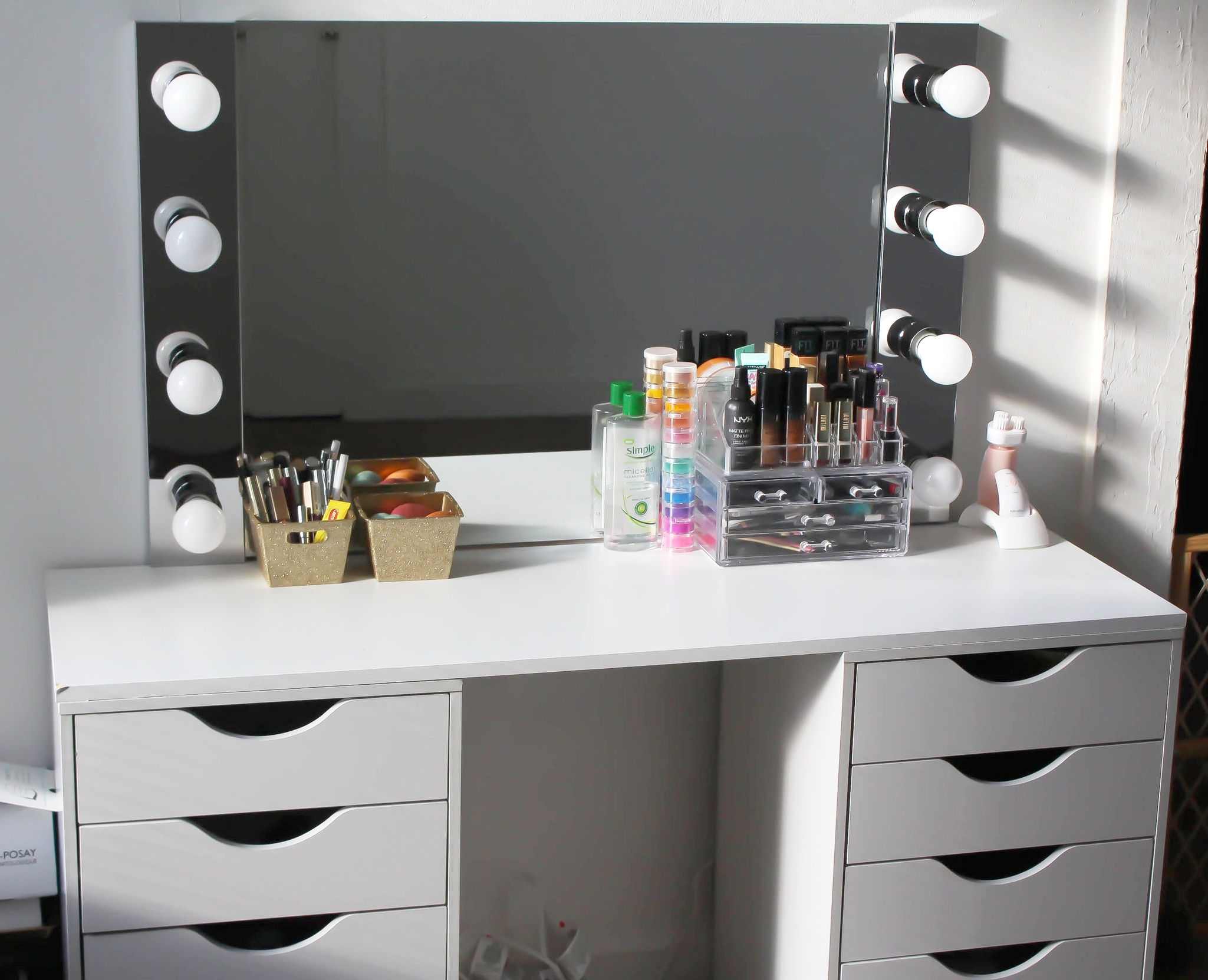 D I Y Vanity Desk Mirror W Led Lights Napturallyeverafter