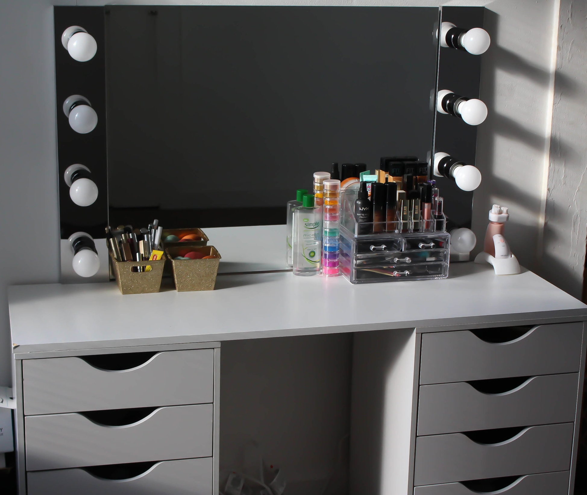 D I Y Vanity Desk Mirror W Led Lights Napturallyeverafter