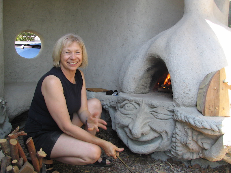 Lighting the Cob Oven