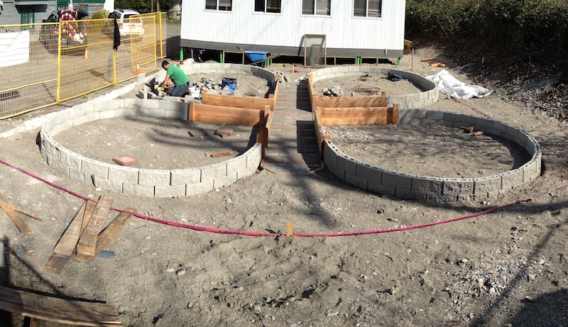 The Butterfly Beds Under Construction