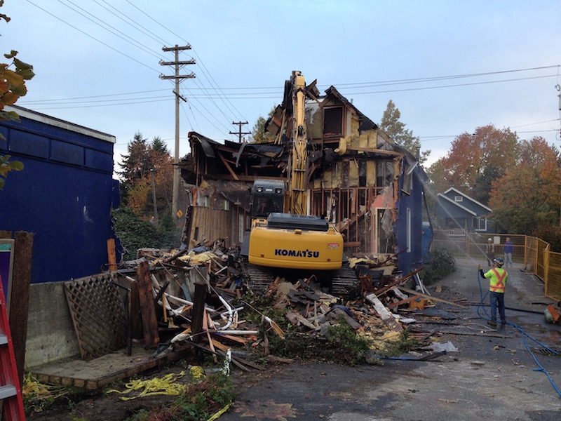 The Old Building Comes Down
