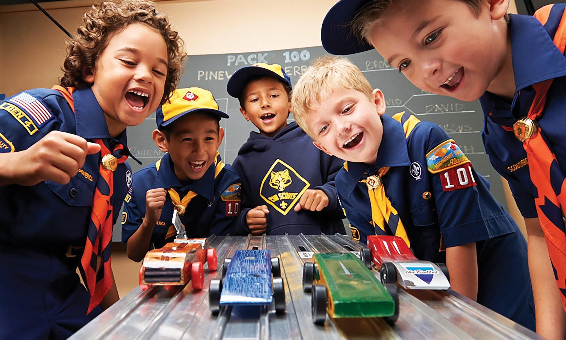 Pinewood Derby competition open to all Boy Scouts, kids, and adults… Bring you former Pinewood Derby Champion!