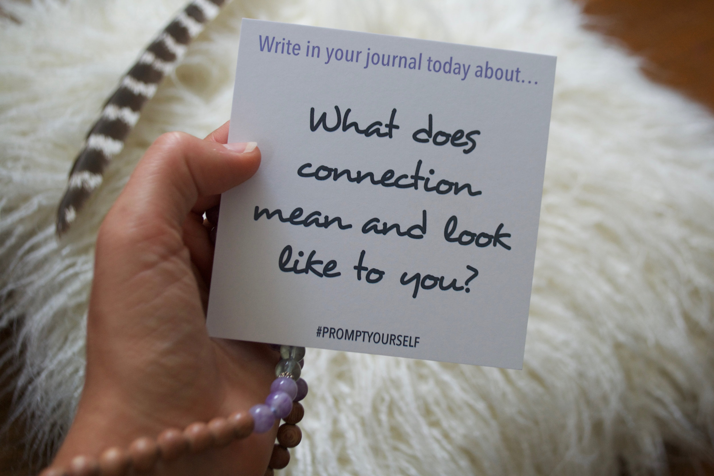 Love to write? Want to start journaling? Snag our card deck filled with 52 mindful journal prompts- SHOP NOW!