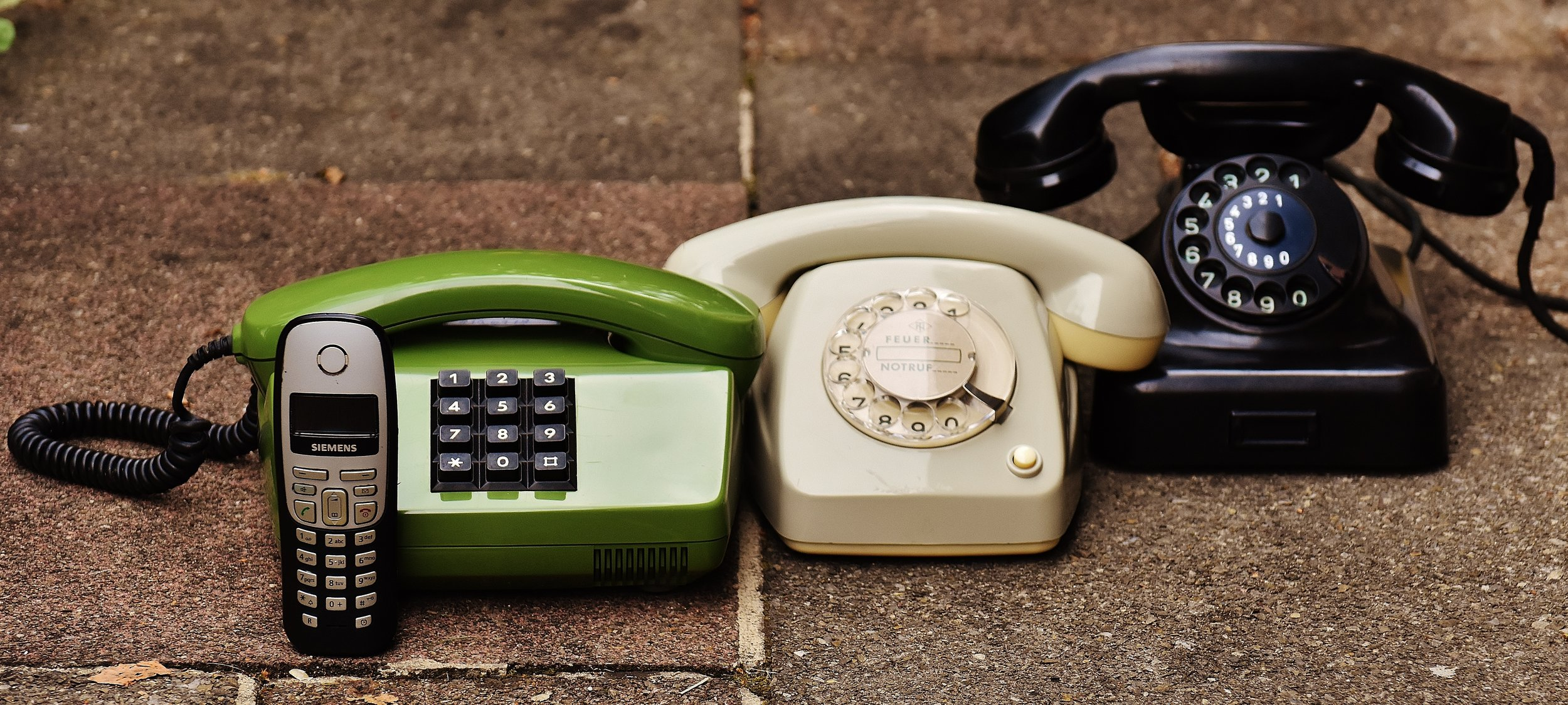 """This is what telephones looked like before they were referred to as """"landlines""""."""