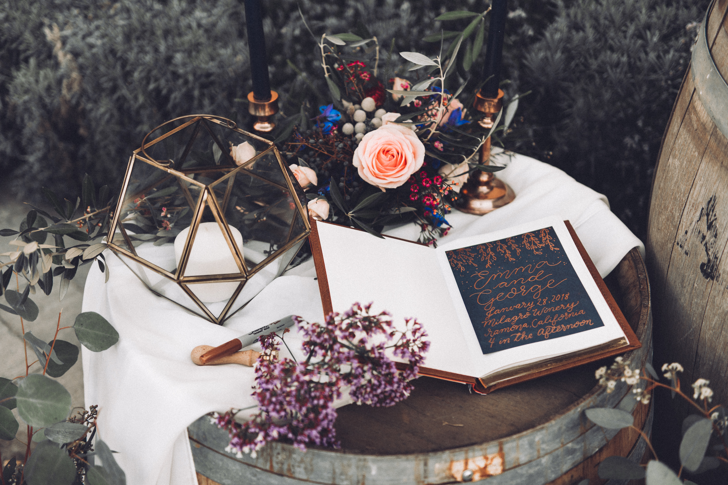 - A beautiful guest book for wonderful and lasting memories!